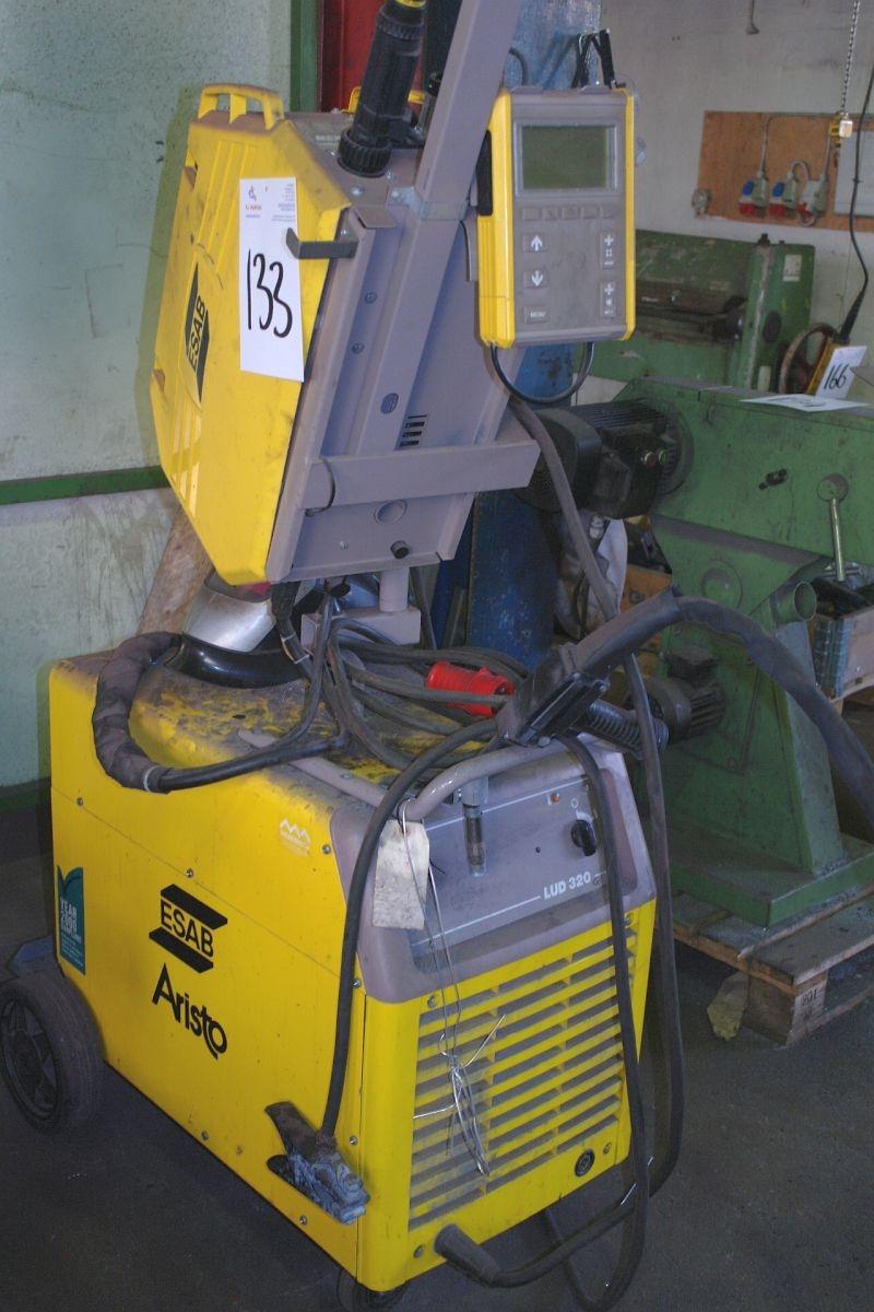tig welder esab aristo tig ldv320 mek 4c wire feed box remote
