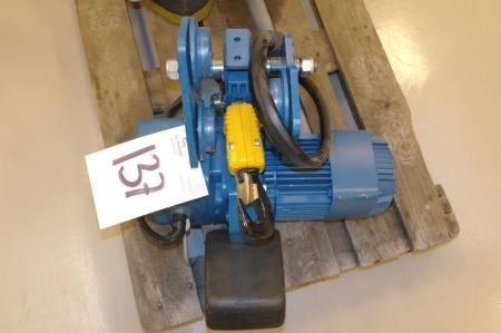 Eltalje, Demag, 1 ton, med løbekat (NY)