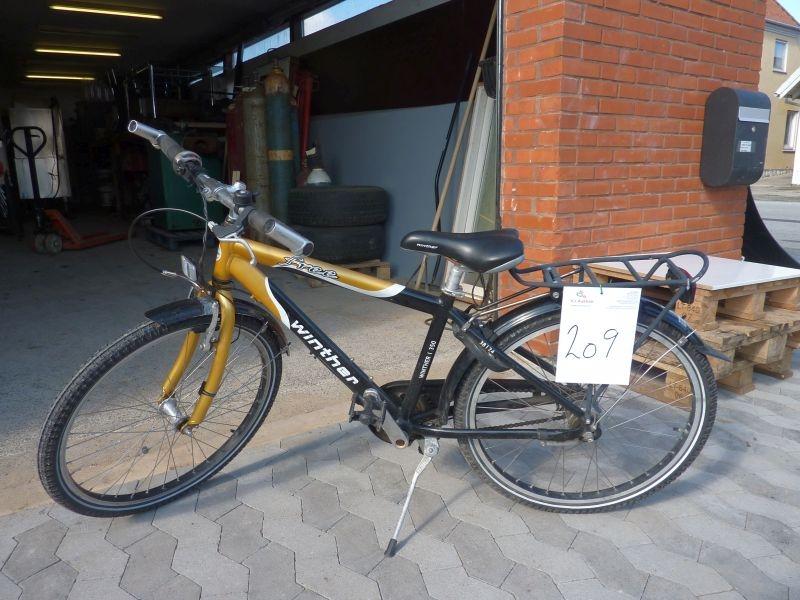 Børnecykel, Winther, 7 gear. Sælges af privat. Kun moms af salæret - KJ Auktion - Maskinauktioner