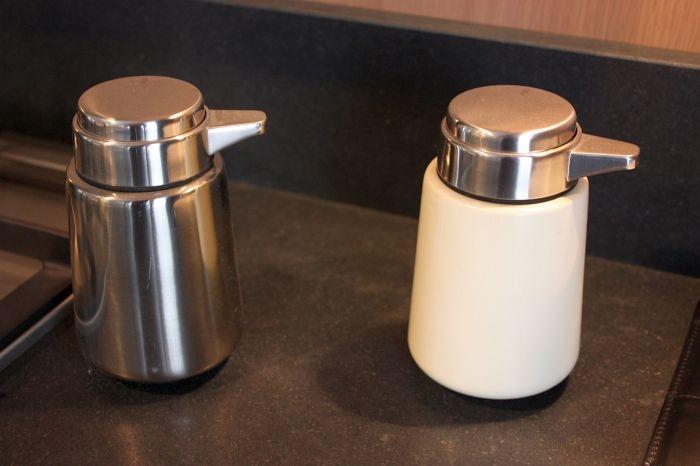 Vipp Toilet Brush : Display items in shop window vipp bucket vipp toilet brush