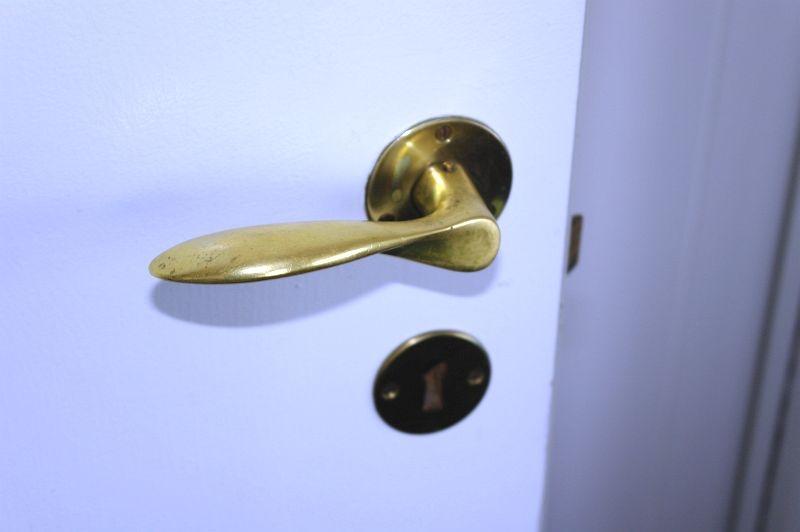 2 stk messing dorhåndtag, Arne Jacobsen (arkivfoto) KJ