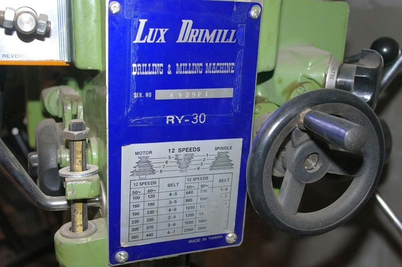 Bænkboremaskine, Lux Drillmill type RY-30 - KJ Auktion - Maskinauktioner