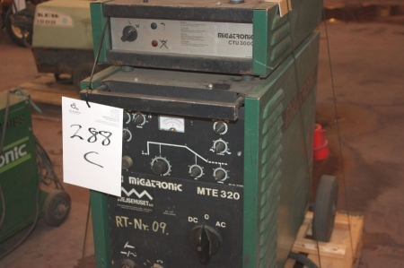 TIG-svejser, Migatronic MTE 320 AC DC. Renoveret af Migatronic for 6000 kr. Ikke benyttet siden ...