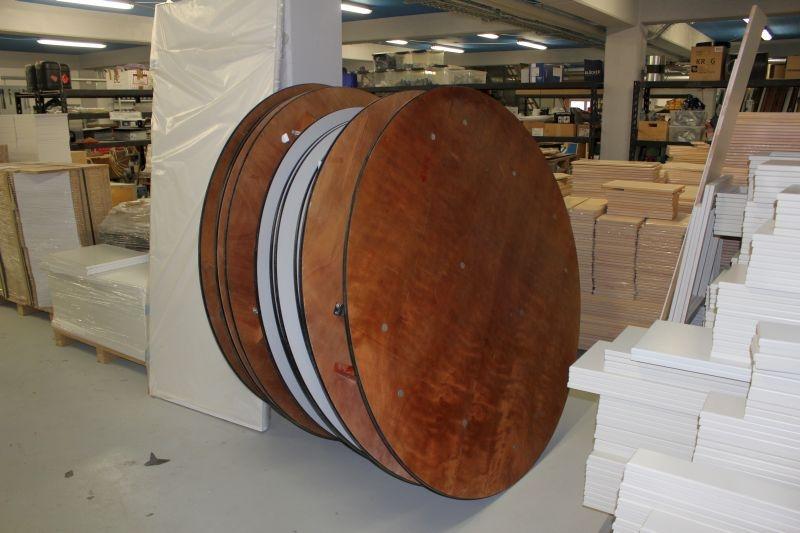 8 stk runde borde ca 160 140 cm kj auktion maskinauktioner. Black Bedroom Furniture Sets. Home Design Ideas