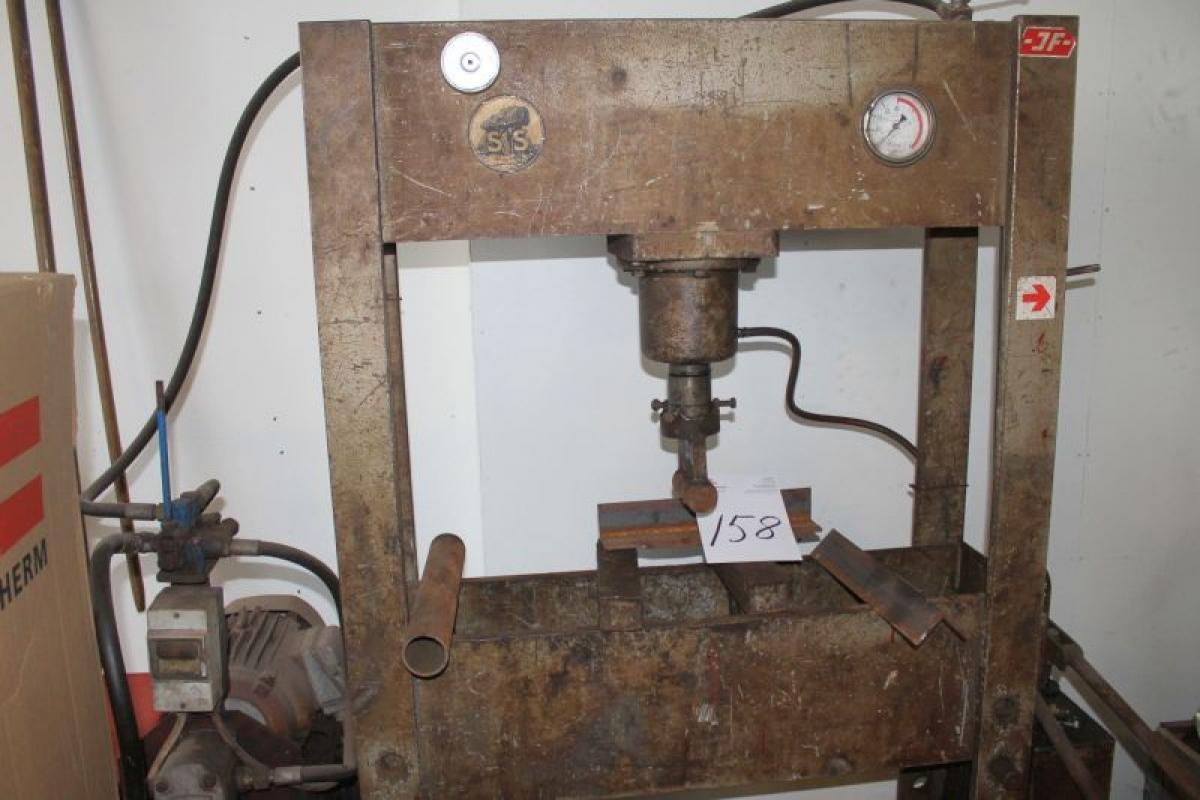 Hydraulic workshop press, Stenhøj, 40 ton - KJ Auktion