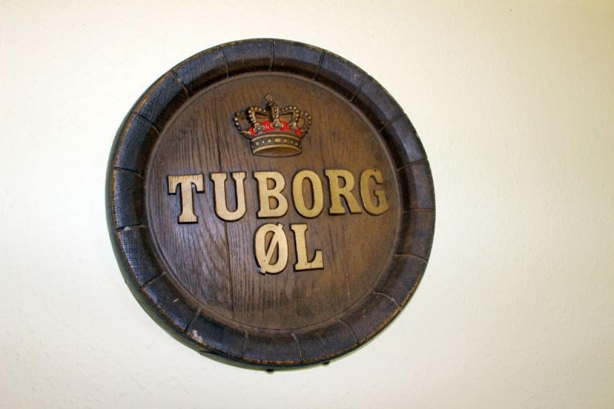 Berømte Tuborg 3 runde skilte + spejl + lille skilt til ophæng - KJ  NR31