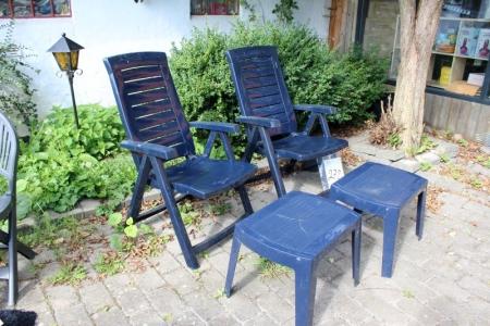 position chairs jardin 2 stck kunststoff blau 2 passenden hockern ein hocker eis gerissen. Black Bedroom Furniture Sets. Home Design Ideas