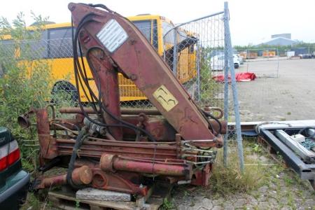 Kran til lille lastbil, HIAB. Ved 5 meter udlæg max 1000 kgHar stået stille i ca 4 år