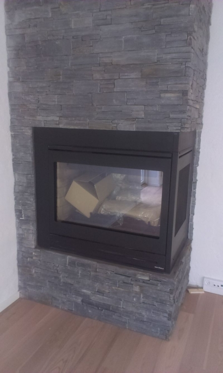 Gas Fireplace For Installation Heat Glo About 108x76xh105 Cm Black And Inclusive Logs And