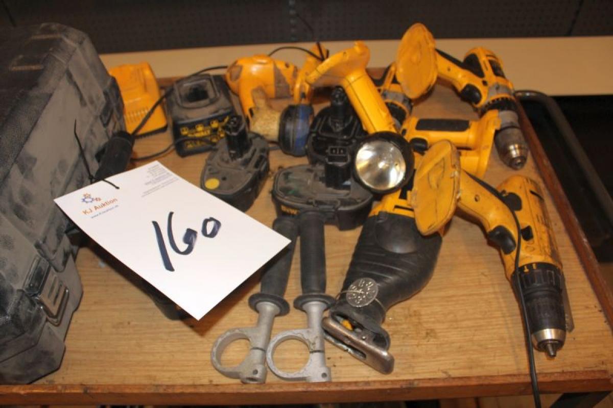 Diverse Dewalt aku værktøj - KJ Auktion - Maskinauktioner