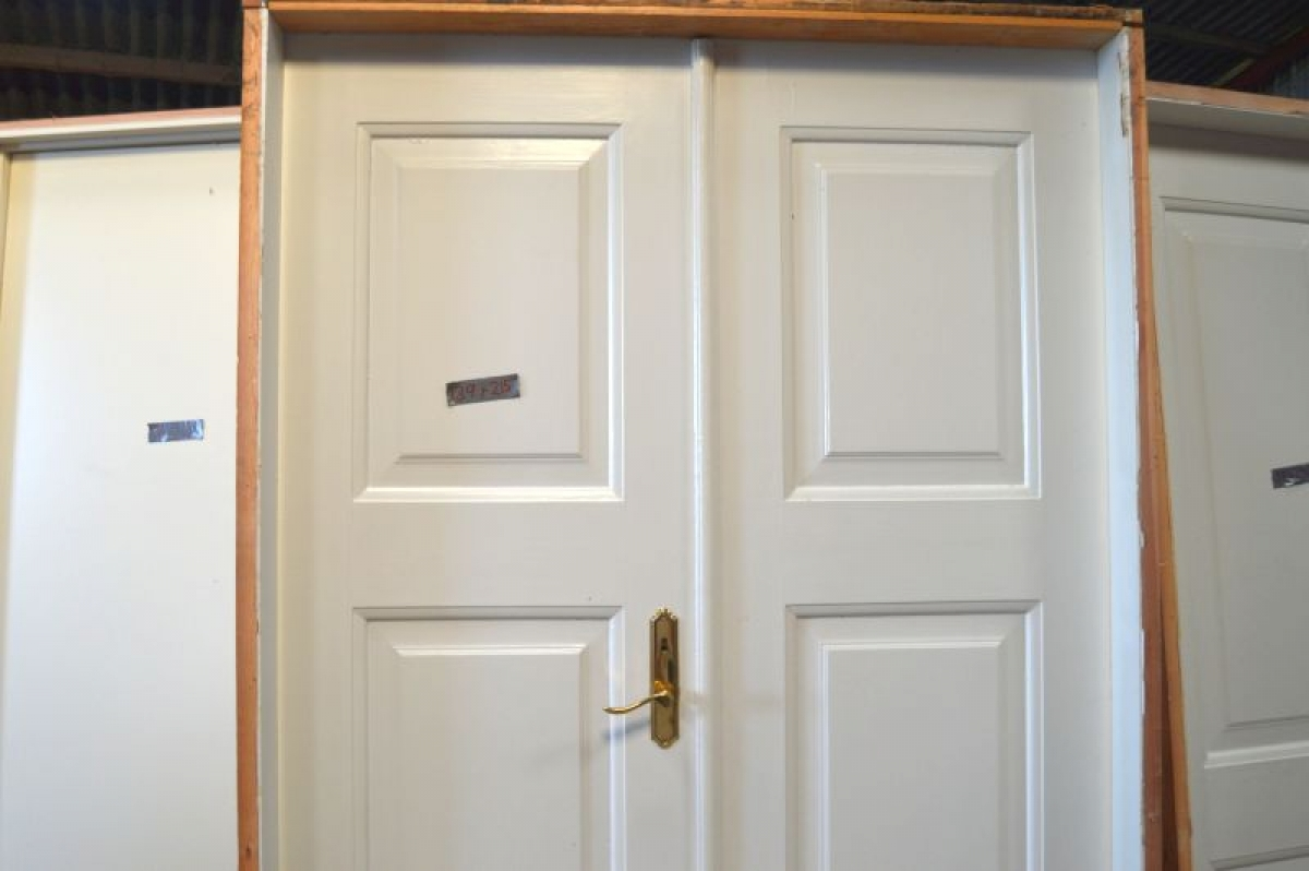 Doppeltür Holz doppeltür holz weiß mit rahmen rahmenmaße ca 139x215 cm kj