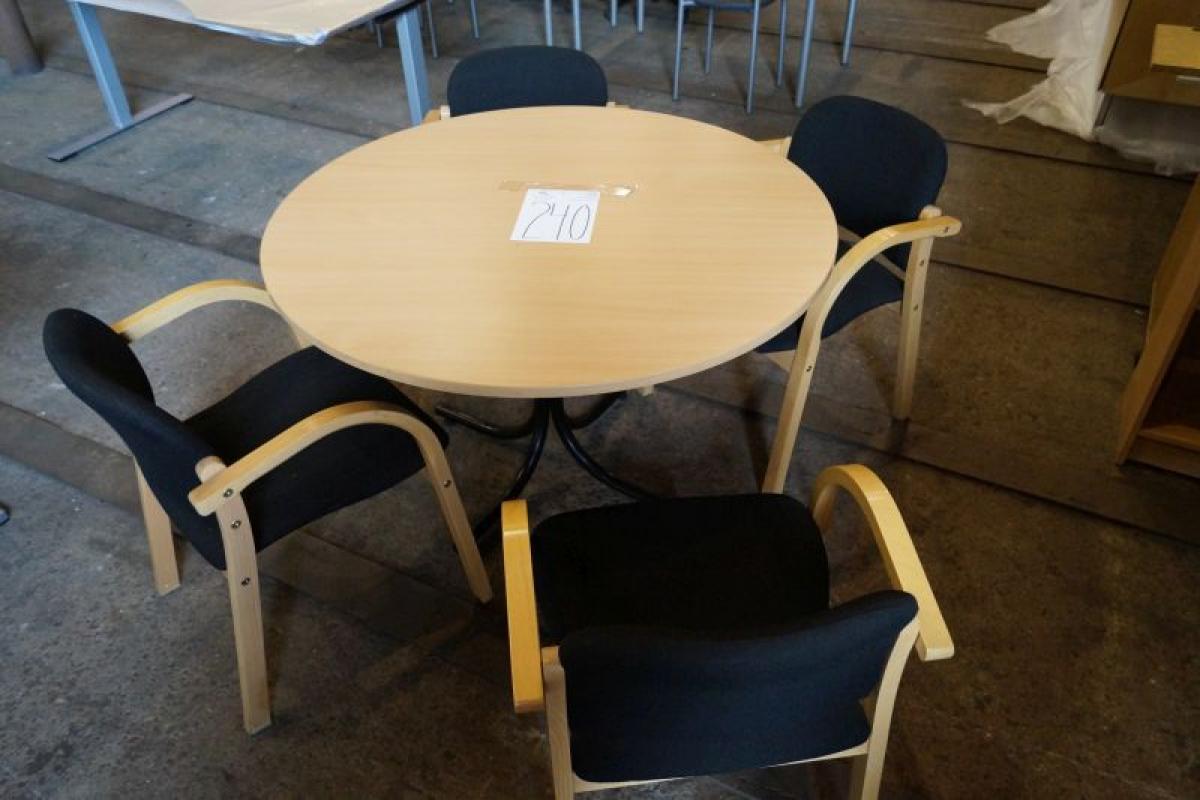 Runder esstisch mit 4 sthlen best massivholz esstisch ausziehbar kernbuche mit sthlen und einer - Runder tisch mit stuhlen ...