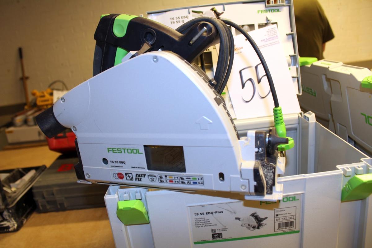 hand circular saw, festool ts 55 rbq-plus - kj auktion - machine