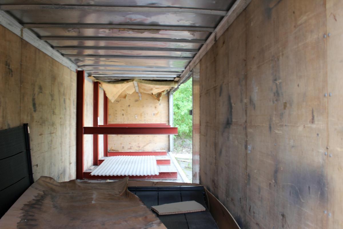40 Fuß Container Alu Mit Tür Auf Der Einen Seite Rutschen, Um Das