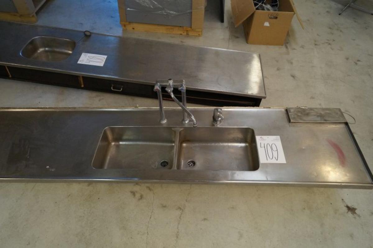 Edelstahl Arbeitsplatte Mit Spule B 60 X L 344 Cm Kj Auktion
