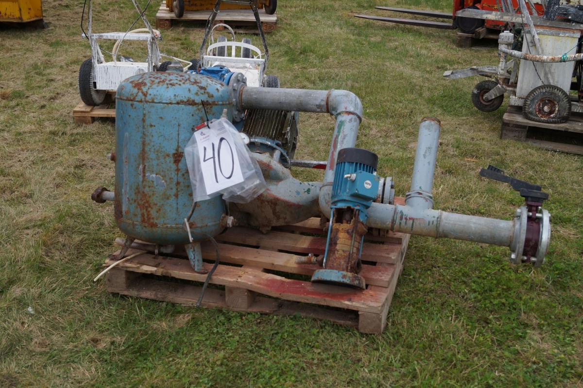 wasserwerk pumpe und druckbehälter - kj auktion - maschinen-auktionen