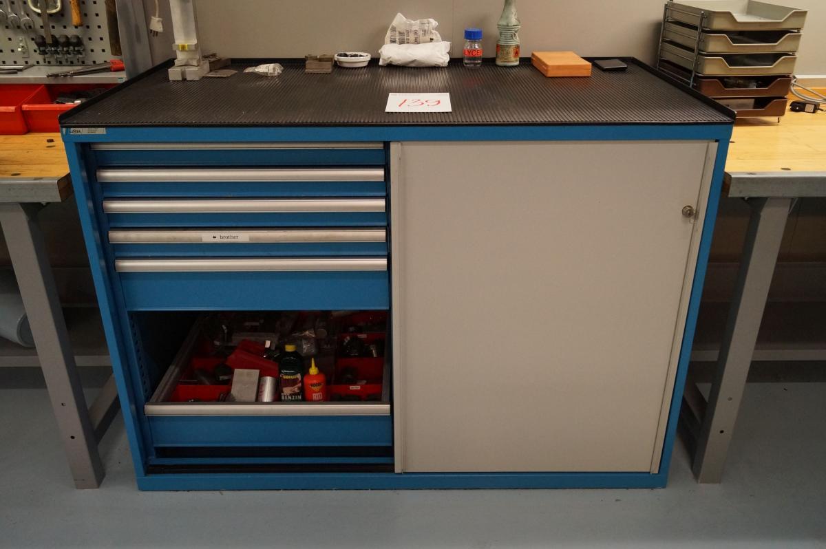 Werkzeugkasten Lista mit Schiebetüren und Schubladen 142x78x100 cm ...