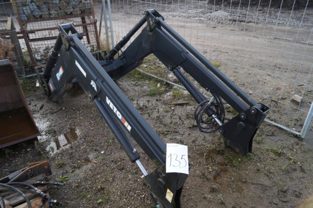 Veto Frontlæsser aldrig brugt model FX5940 med beslag til traktor og slanger. + Skovl, aldrig ...