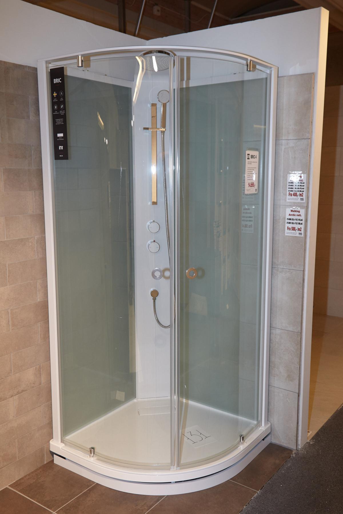 komplett inr bric 4 dusche mit klarglas in front und satiniertem glas in der rckwand - Aluminium Ruckwand Dusche 2