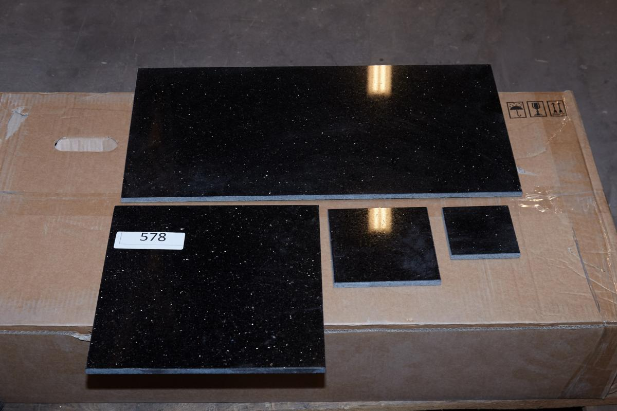Floor Tiles Black Galaxy 305x305 Cm 13 Sqm 15x15 Cm 4 Sqm