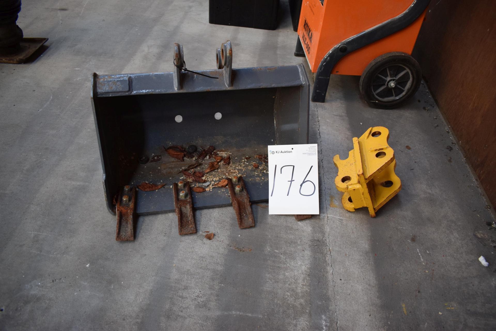 Skovl til minigraver 60 xm + beslag - KJ Auktion - Maskinauktioner