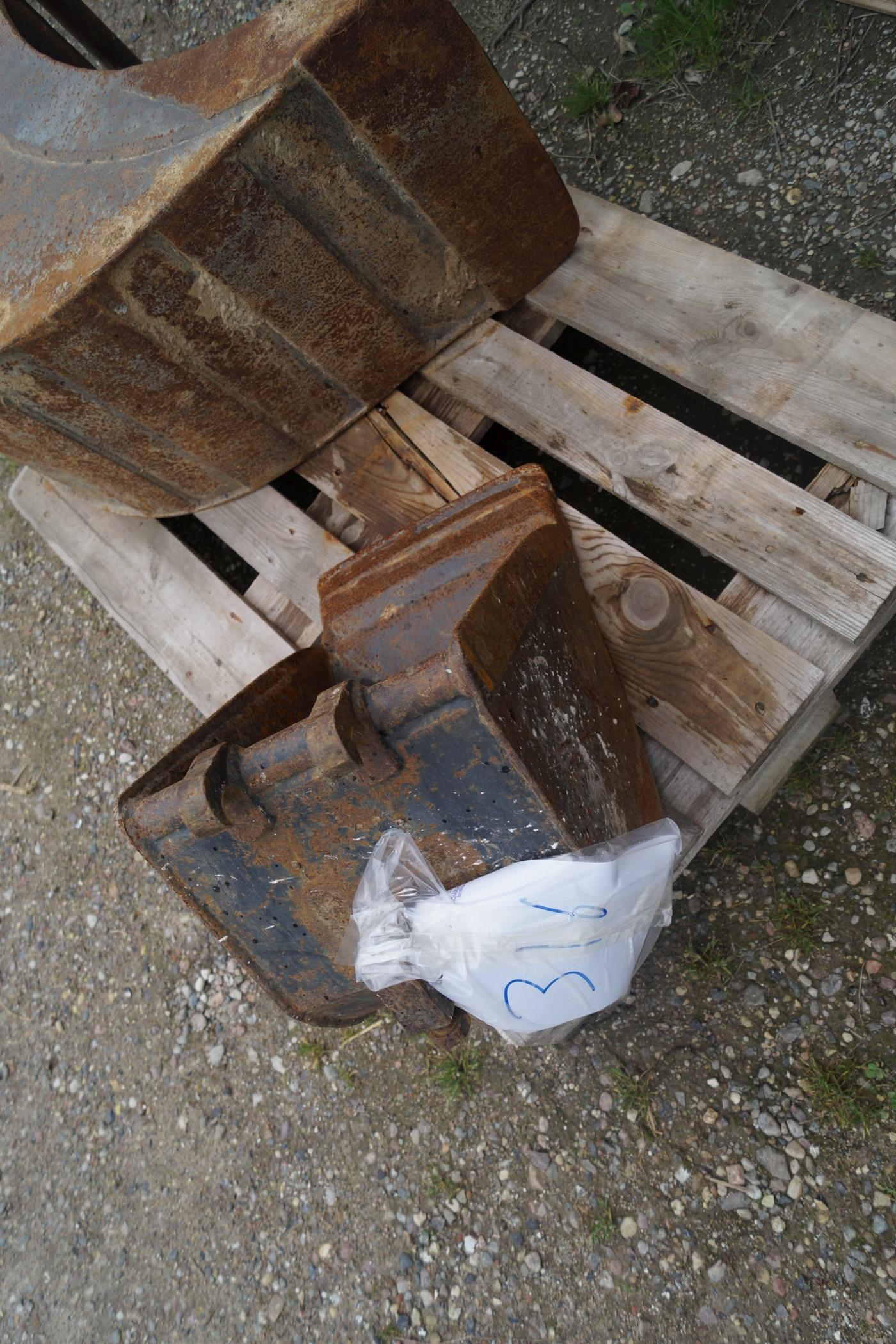 Skovl til minigraver. 33 cm, - KJ Auktion - Maskinauktioner