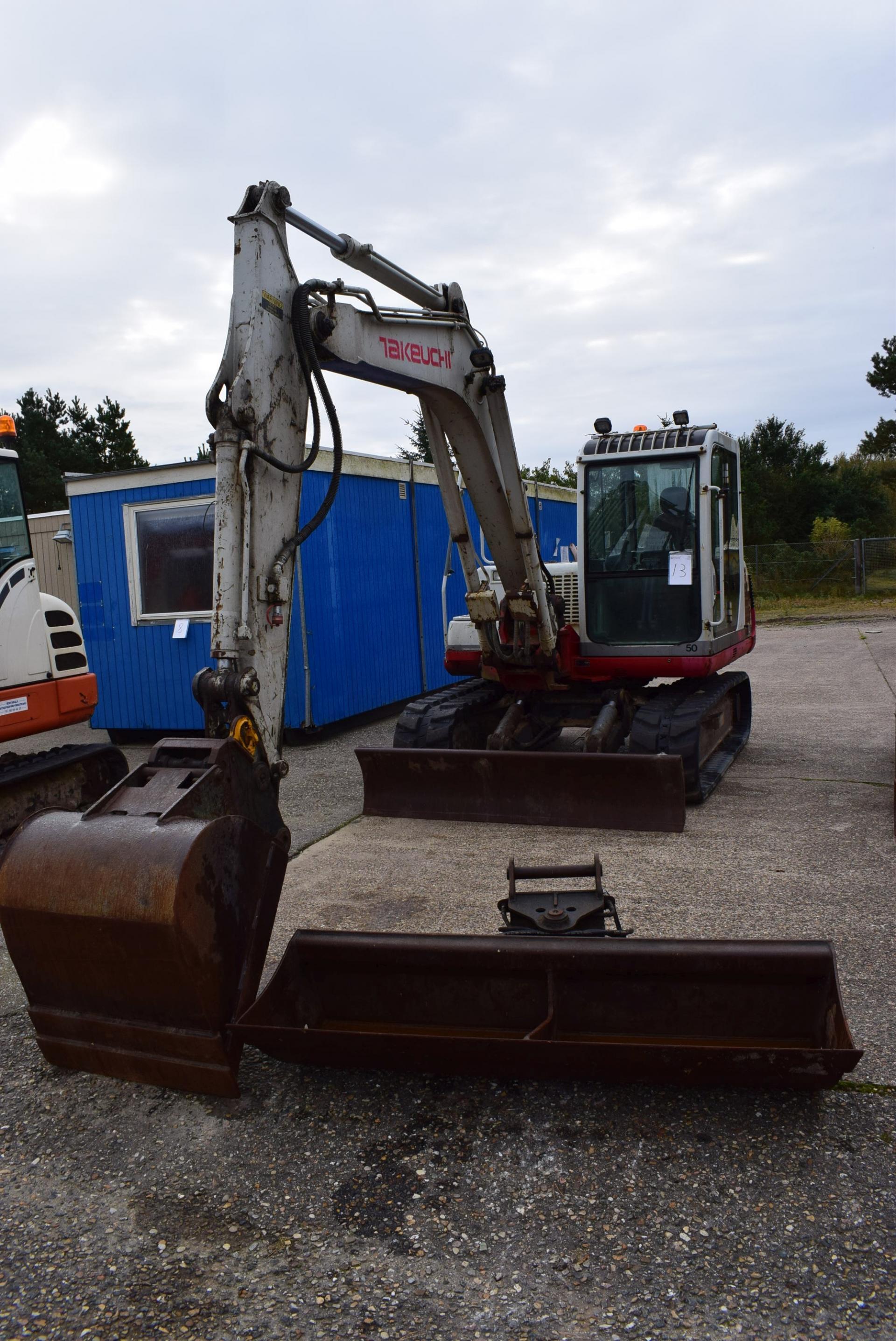 Terex minigraver TC16 årgang 2014 serie nr. TC00163126 timer 1303. - KJ Auktion - Maskinauktioner