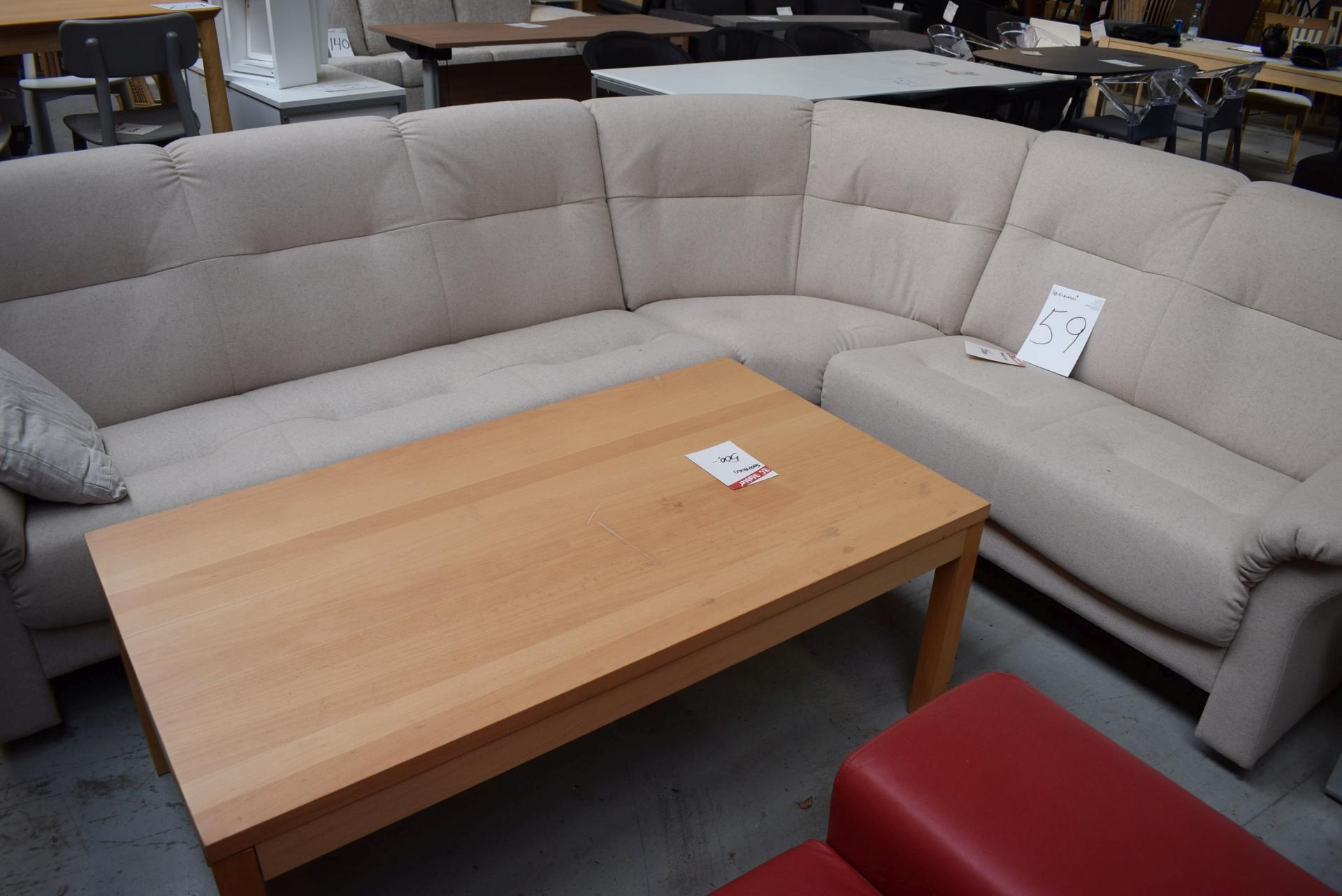 6 Pers Corner Sofa Coffee Table 75 X 135 Cm