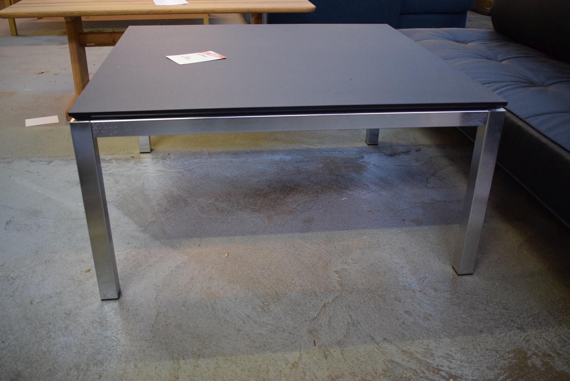 Schwarzes Mdf schlafsofa schwarzes leder couchtisch 100 x 100 cm schwarz mdf