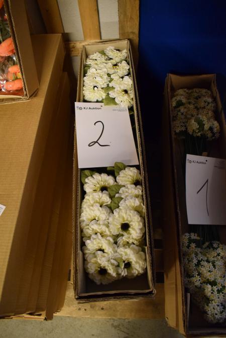 7 x 24 stk. Kunstige blomster butikspris pr stk. 39,-