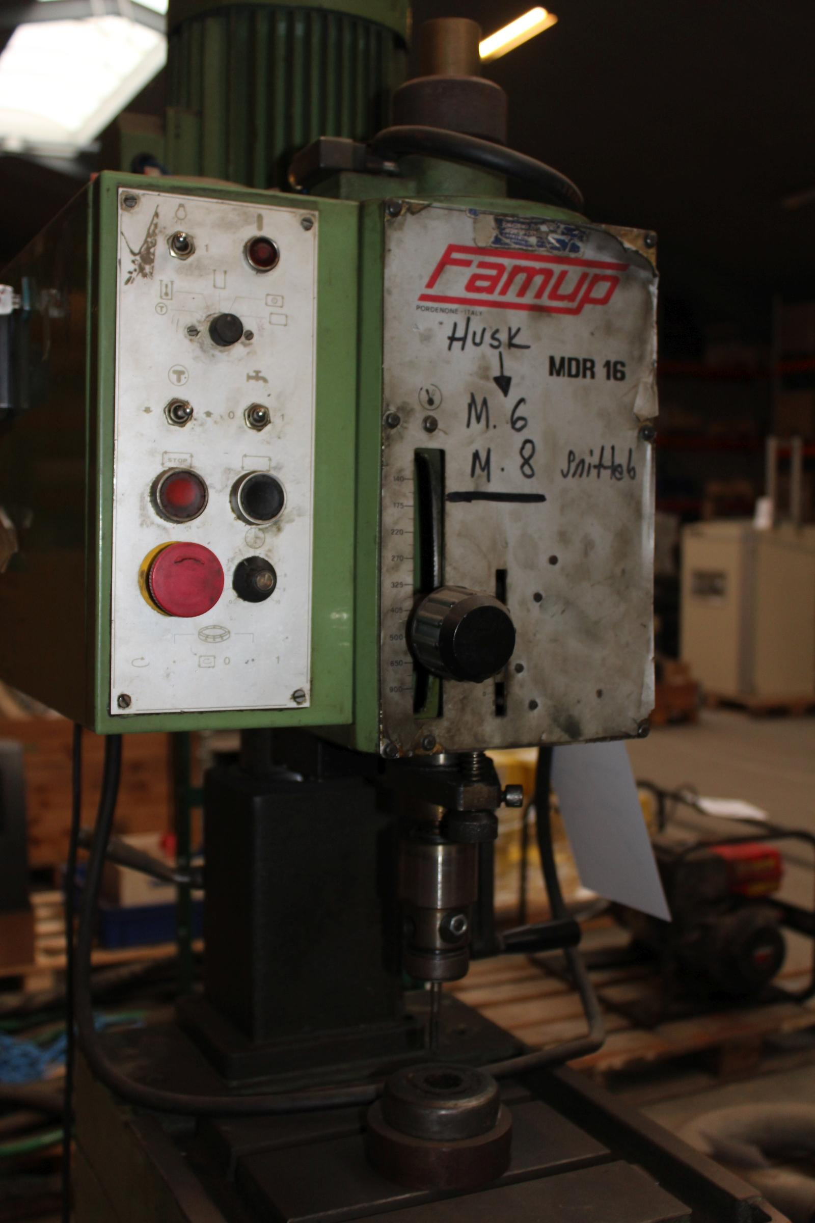 Famup MDR16 Søjleboremaskine fodbetjent - KJ Auktion - Maskinauktioner