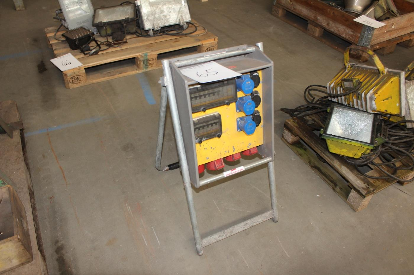 Construction Switchboard With Fuse Box Kj Auktion Machine Auctions