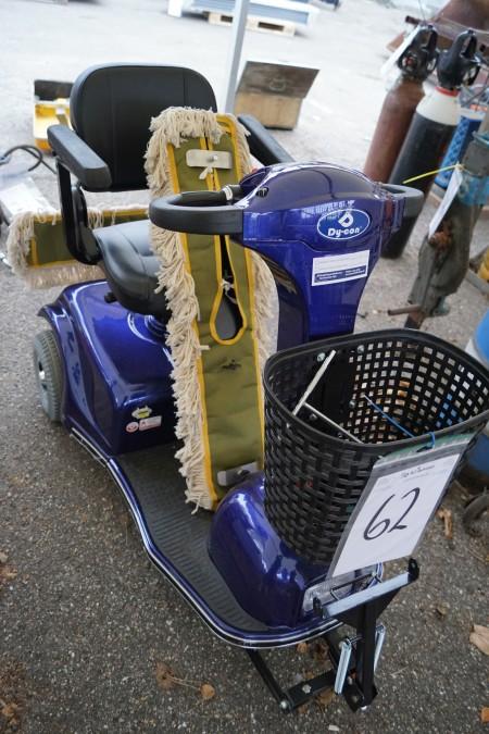 Trehjulet el scooter med svaber. Nye batterier og nyserviceret med garanti