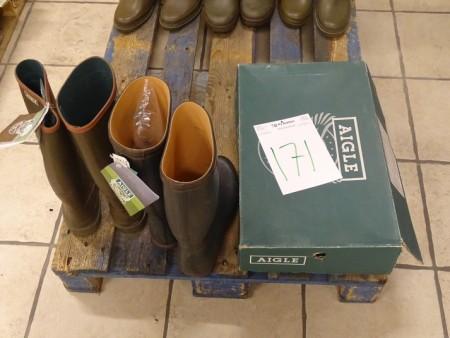 3 par gummistøvler -alle str. 48