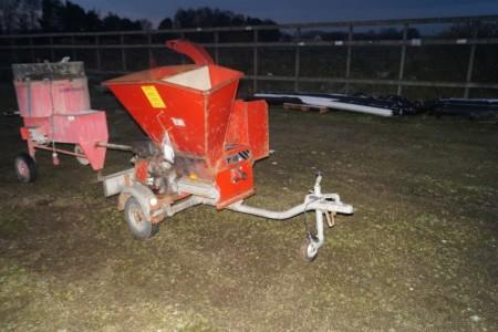 Flishugger TP410. Påhængsvogn. Reg Nr.:  OP2435. 16-hestes motor