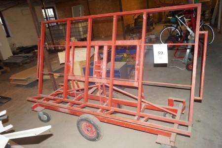 gipsplade vogn bor kan stå oprejst eller lægge vandret 228x120 cm