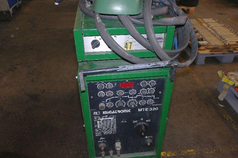 Migatronic TIG svejser. MTE 320 AC/DC med håndtag + svejsehjelm. - KJ Auktion - Maskinauktioner