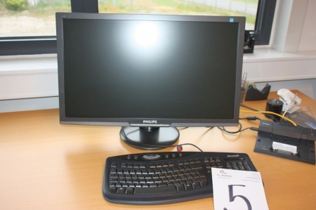 Philips Flat Panel PC 273 + Dell Dock + keyboard + mouse.