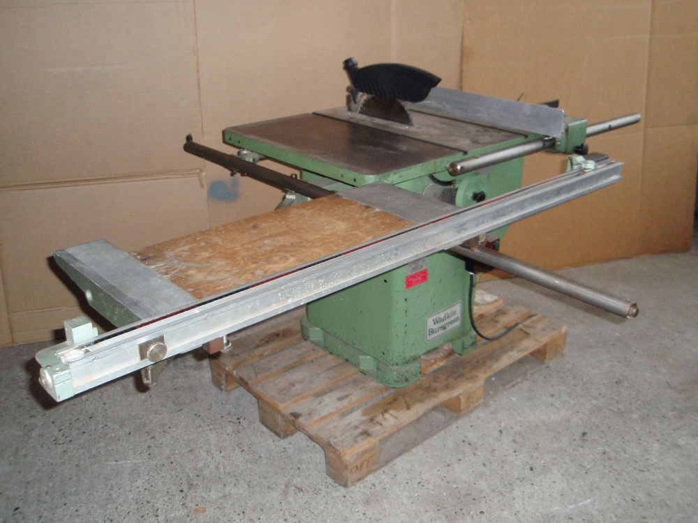 Kipbar rundsav wadkin model ags 10 12 med rullebord for 10 sliding table saw